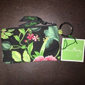 Vera Bradley Lighten Up Zip ID Case keychain